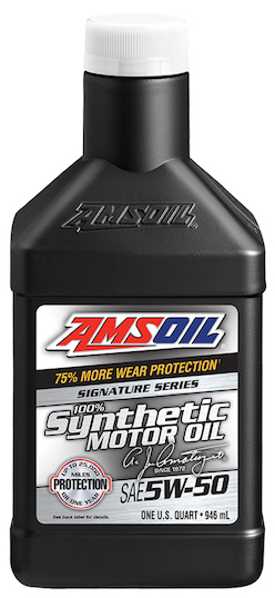SAE 5W-50 Signature Series 100% Synthetic Motor Oil (AMR)